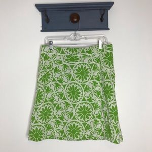 Lilly Pulitzer floral medallion print skirt 10 D8